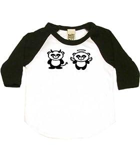 Funny Baby Gift Good Panda Bad Panda Cute Toddler Clothes Boy Or Girl T-Shirts