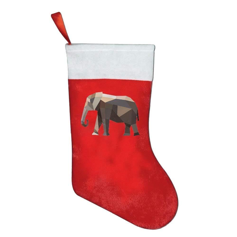 Lovexue Zoo Animals Elephant Personalized Christmas Stocking