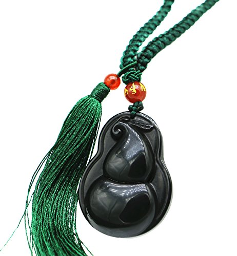 Used, Feng Shui Handmade Obsidian Wu Lou /Hu Lu Gourd Calabash for sale  Delivered anywhere in USA