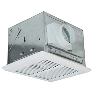 Air King FRAK100 Energy Star Qualified Fire-Rated Quiet Exhaust Bath Fan with 100-CFM and 1.5-Sones, White Finish