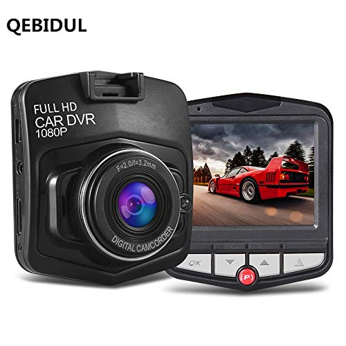 Cheap QEBIDUL Car 2.4 Inch Dashboard Photo Mini Dash Cam Camera With FHD 1080P DVR Resolution and 170 Degree Wide Angle Lens Night Vision Loop Recording G-Sensor Onboard Driving Recorder