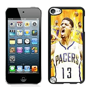 New Custom Design Cover Case For iPod Touch 5th Generation Indiana Pacers Paul George 6 Black Phone Case