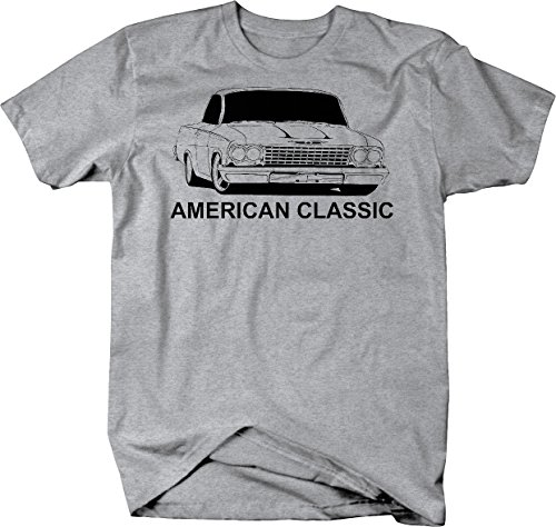 American Classic Chevy El Camino SS Muscle Car Tshirt - Large Heather Grey