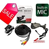 AVUE 700TVL Sony 960H CCD mini bullet camera KIT, Built-in audio, IP66 Weather proof, 3.6mm, IR Smart, metal case, DC12V.
