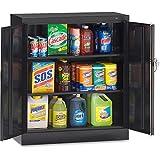Tennsco Counter-High Storage Cabinet - 36'' X 18'' X 42'' - 2 X Door(S) - Locking Mechanism, Welded, Re