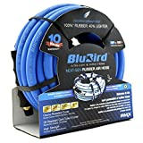 "BLUBIRD: The Lightest and Strongest Rubber Air Hose 3/8"" x 25' 300PSI w/ 10 Year Warranty"