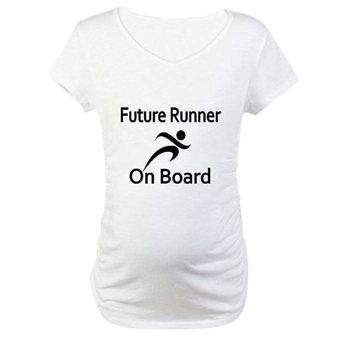 439b74d1 CafePress Future Runner on Board Maternity T-Shirt Cotton Maternity T-Shirt,  Cute