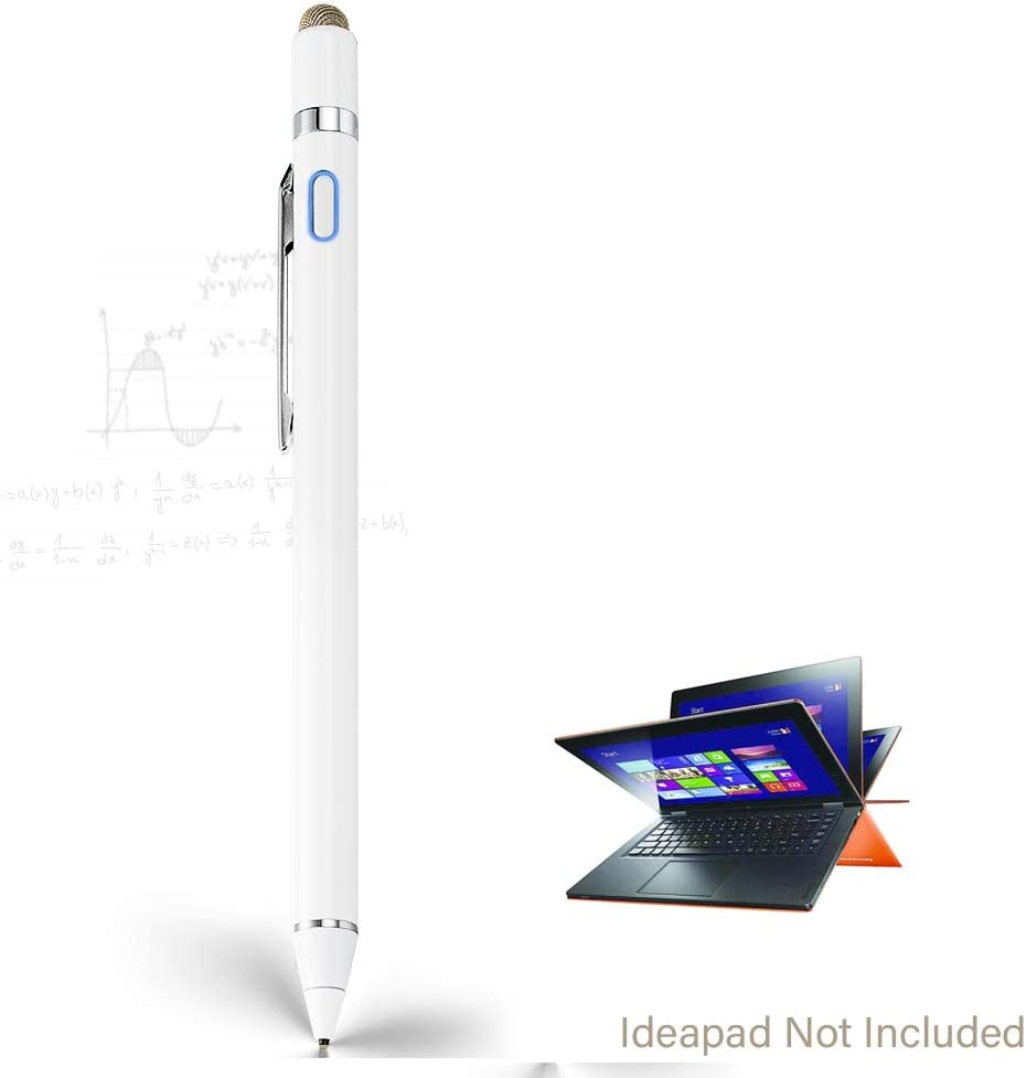 Stylus Pen for Lenovo Ideapad Flex, EDIVIA Digital Pencil with 1.5mm Ultra Fine Tip Pencil for Lenovo Ideapad Flex 3/4/5/6 11&14 Stylus, White
