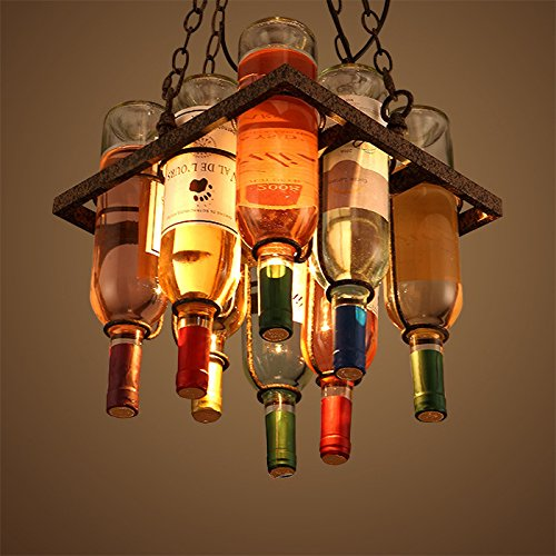 Lounge Bottle - Leihongthebox loft wine bottle Chandelier restaurant cafe lounge hall shops Pendant Lighting hanging Pendant Lighting restaurant Cafe living room personality hall shops ,300300mm Chandelier