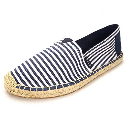 3acd89986aa94 Flat Espadrilles for Women, Slip on Cushioned Canvas Espadrille Shoes  Loafers Sneakers, Red/Navy Striped Espadrilles for Women(04-9-87 / Navy,  US-5)