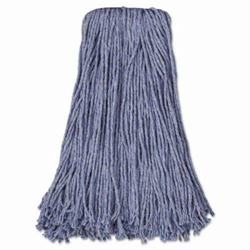 Boardwalk BWK2024B Mop Head, Standard Head, Cotton/Synthetic Fiber, Cut-End, 24, Blue (Case of 12) by Unisan
