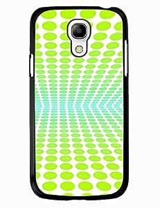 Kawaii Digital Green Polka Dots Hard Snap On Phone Case for Samsung Galaxy S4 Mini I9195