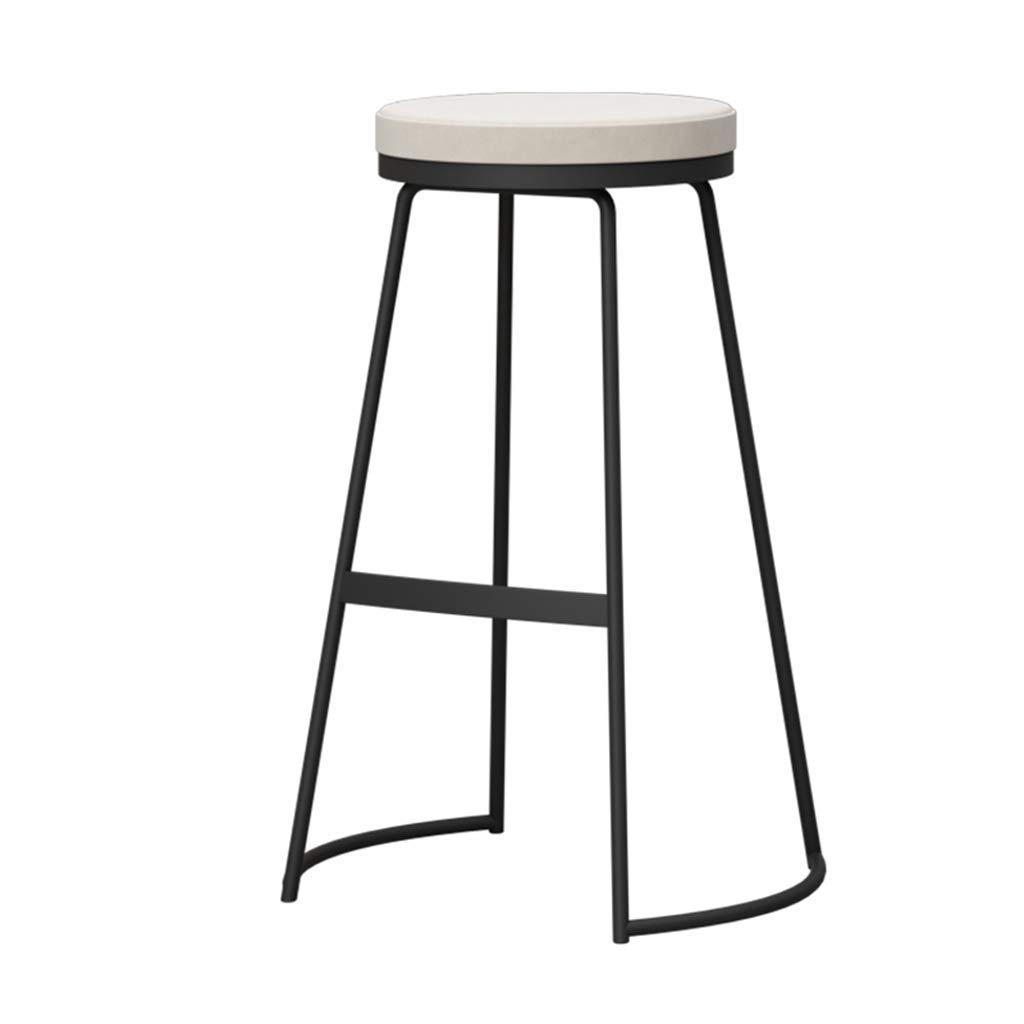 4  HQCC Bar Stool, High Stool Iron Bar Stool, Modern Minimalist High Stool, Beauty Salon Cafe Stool Height 75cm Creative Bar Stool (color   3 )
