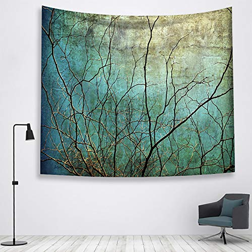 - Tasera Branch Tapestry, Antique Blue Sky Tapestry Wall Blanket Wall Art Black Twig Tapestry for Bedroom Living Room Dorm Decor (59 x 52 inches)