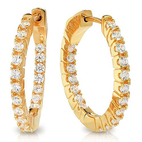 Yellow Gold Estate Earrings - 1