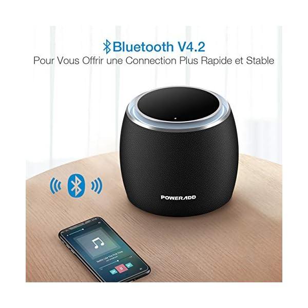 POWERADD Enceinte Bluetooth Portable, 36W Basse Performant avec 4 Pilotes Intégrés, 4000mAh Grande Capacité, Volume Rotatif, Musique de 12H pour Intérieur/Extérieur 6