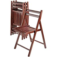 Winsome Wood Robin 4 Piece Folding Chair Set Walnut