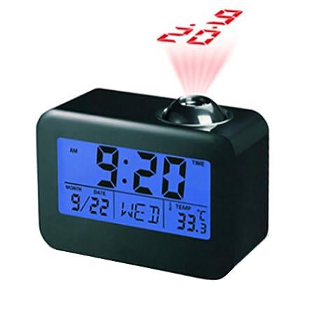Relangce Despertador Proyector, Reloj Despertador Digital con ...
