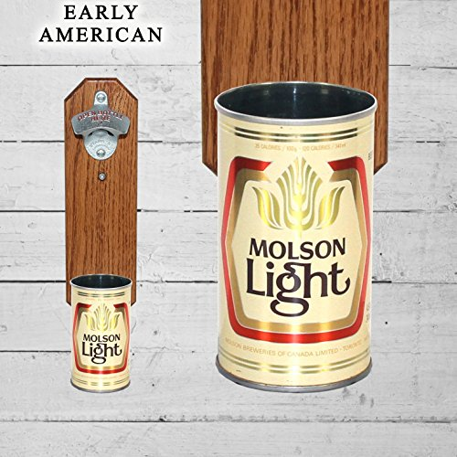 wall-mounted-bottle-opener-with-vintage-molson-light-canadian-beer-can-cap-catcher