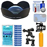 SeaLife SL051 0.75x Wide Angle Conversion Lens for DC2000 Camera & Adapter Ring + Silica Gel + Underwater Video Light + Buoy Handle + Bike Mount Kit