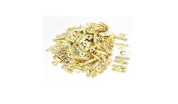 Collar de la caja de madera caja de la cerradura eDealMax hebilla de Cierres de palanca del cerrojo de oro 50PCS del tono - - Amazon.com