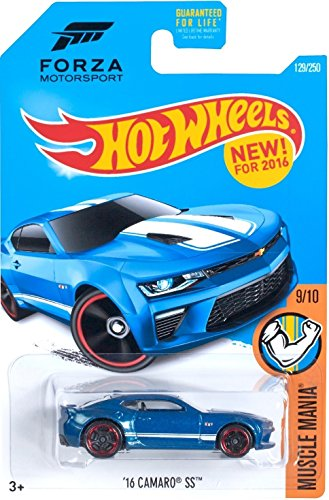 Cheap Hot Wheels 2016 Muscle Mania Forza Motorsport '16 Camaro SS 129/250, Blue for cheap