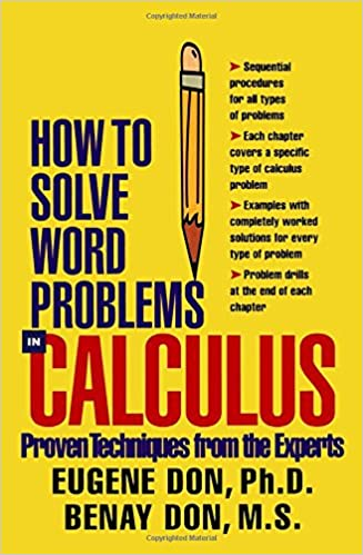 How to solve word problems in precalculus