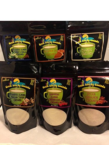 Great Life by Lucinda All Natural Coffee Creamer Variety Pack - Bundle of 6 (Pecan Pie Cheesecake)