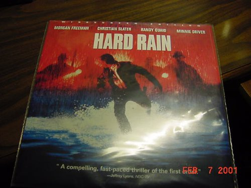 Laser Disc, Laserdisc of HARD RAIN with Morgan Freeman, Christian Slater, Randy Quaid and Minnie Driver.