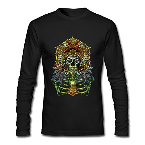 XXL Bert Pandora Mens Feather Skull Skeleton Loose Fit Muscle Funny Tshirts