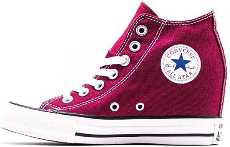 converse all star bordeaux alte donna