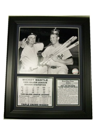 bbcoutlet FRAMED MICKEY MANTLE 1956 TRIPLE CROWN AWARD WI...
