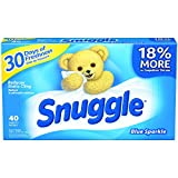 Snuggle Fabric Softener Sheets (Blue Sparkle, 40-Count, Case of 12)