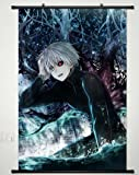 Home Decor Anime Tokyo Ghoul Kaneki Ken Wall Scroll Poster Fabric Painting Japanese Cosplay 23.6 x 35.4 inches - 079