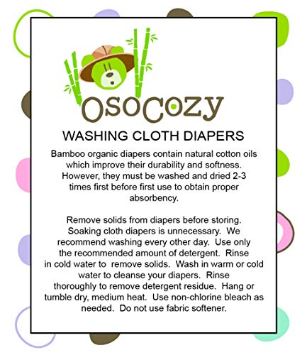 OsoCozy Bamboo Organic Prefolds Ultra Soft (Pack of 6)