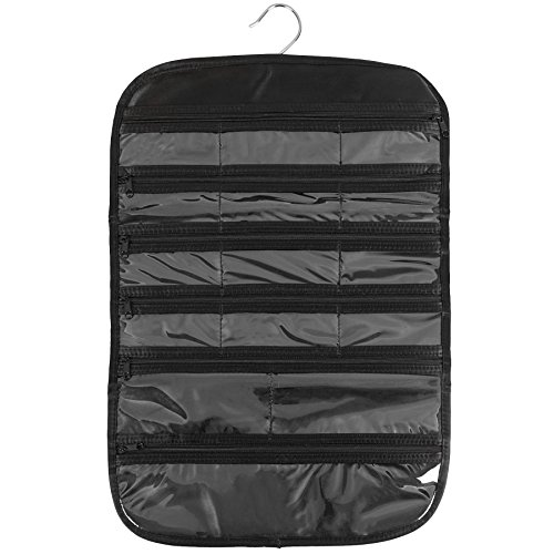 FloridaBrands 31-Pocket Hanging Jewelry and Accessory Organizer with Silver Hook - Black by FloridaBrands (Image #1)