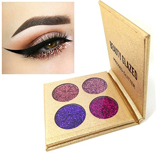 Beauty Glazed Eyeshadow Palette Insanely Pigments 4 Glitter