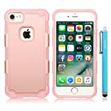 iPhone 7 Case, Skoloo [Guardian Deity Series] Super Tough Durable Protective Heavy Duty Hard Armor EXTREME Protection Case for Apple iPhone 7 2016(All Rose Gold)