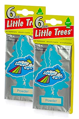 Little Trees Cardboard Hanging Car, Home & Office Air Freshener, Powder (Pack of 12) - Little Trees Car