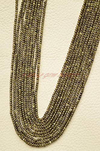 JP_BEADS Natural Green Tourmaline Beads, Green Tourmaline Faceted Rondelle Beads, 2.40 MM Size, 13 Inches Strand