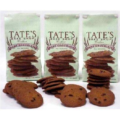 - Tate's Bake Shop Whole Wheat Dark Chocolate Cookies, 7 oz