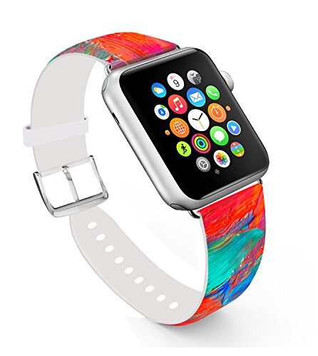 Ecute Replacement Leather Iwatch Silver