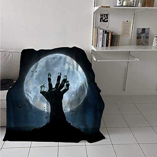 maisi Halloween Throw Blanket Realistic Zombie Earth Soil