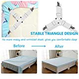 Ultrashang Bed Sheet Straps Fasteners: 2-Set White