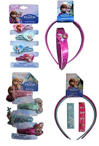 [Disney Frozen Hair Accessories - Headbands Ponytails Clips] (Disney Frozen Hair Clips)