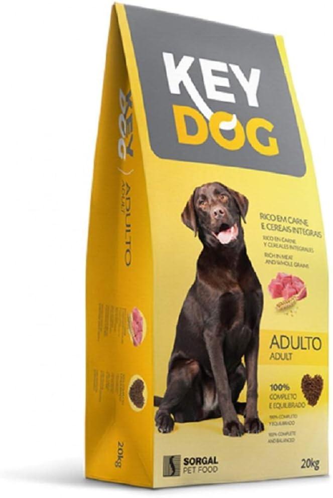 KEY DOG Pienso Perro 20 kg para Mantenimiento de Perros Adultos
