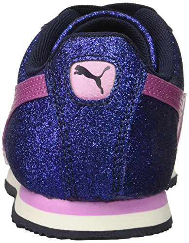 PUMA Unisex-Kids Roma Glamour Sneaker, Peacoat-Orchid, 5 M US Big Kid by PUMA (Image #2)