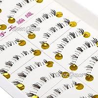 ICYCHEER 10 pairs Natural Handmade Under Lashes False Eyelashes Lower Bottom Eye Lashes