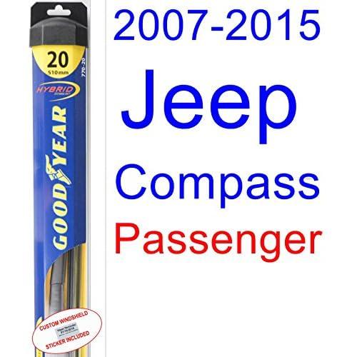Hot 2007-2015 Jeep Compass Wiper Blade (Passenger) (Goodyear Wiper Blades-Hybrid) (2008,2009,2010,2011,2012,2013,2014)
