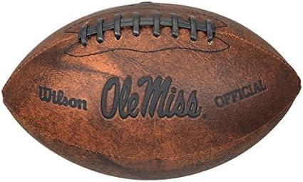 NCAA Ole Miss Wilson 9-Inch Throwback Football